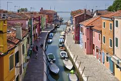 View of Burano (Runemaker) Tags: burono venice venezia italy italia street canal architecture town village hdr boats nikon d750