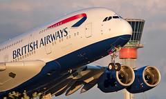 G-XLEJ - Airbus A380-841 - LHR (Seán Noel O'Connell) Tags: britishairways ba speedbird gxlej airbus a380841 a380 a388 heathrowairport heathrow lhr egll sin wsss ba11 baw11 aviation avgeek aviationphotography planespotting