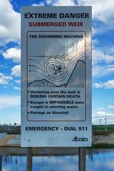 The Drowning Machine (Bracus Triticum) Tags: the drowning machine sign アルバータ州 alberta canada カナダ 6月 六月 水無月 rokugatsu minazuki monthofwater 2018 reiwa summer june