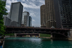 Wabash Avenue Bridge with Corn Cob Buildings (deanwampler) Tags: sony sonyalpha chicago