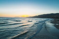 Pismo Beach Sunset, California Coastline (Hanna Tor) Tags: sea ocean beach sun sunset travel california usa wave water shore shoreline landscape nature seascape sky sundown colors outdoors reflection hannator
