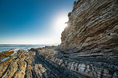 Cliffs, California Coastline (Hanna Tor) Tags: cliff sea ocean travel trip california usa pacific shore shoreline coastline beach sun sunrise sunset rays hanna tor blue water wave light