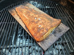 2019 181/365 6/30/2019 SUNDAY - Grilled Salmon On A Cedar Plank (_BuBBy_) Tags: grilled salmon on a cedar plank fish dinner meal supper weber grill charcoal 2019 181365 6302019 sunday sun su 181 365 365days days project project365 june grilling bbq