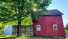 Barn House (SurFeRGiRL30) Tags: barn redbarn fence houses ni rockawaynj yard sunlight sun sunny sunnyday shadows