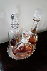 Orrefors decanters (Joe Lewit) Tags: variosonnart282470 orrefors whisky cognac sherry decanters silver salver stilllife