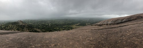 Enchanted Rock Vista in the rain