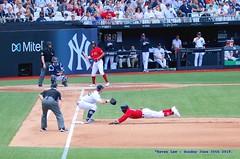 SAFE!.......... (law_keven) Tags: londonseries london england mlb newyorkyankees bostonredsox redsox londonstadium olympicstadium baseball sportsphotography photography mookiebetts