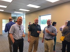 Becknell Stop - Matt Hubert, Dan Fogarty and Bob Gude - 2019 NAIOP Bus Tour