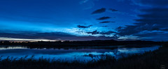 Noctilucent Clouds over Hoodoos (Christy Turner Photography) Tags: noctilucentclouds night dusk blue hour clouds weather alberta