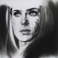 REQUIEM (Sketchbook0918) Tags: jenniferconnelly actress charcoal portrait drawing paper emotional expressive cinematic beautiful wonderful thoughtful shadows art fineart