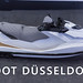 "White jet ski with grey seat presented at the german boat exhibition ""Boot Düsseldorf"""