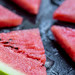 Juicy and ripe watermelon slices close up
