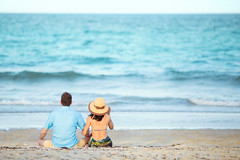 Florida (Yuri Figuenick) Tags: portrait two couple sea beach florida back blue nature canon eos 5d mark3 summer love horizon art vacation trip travel waves