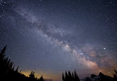Stars (Van-Herman) Tags: mountrainier galaxy stars night scene washingtonstate washington state mount rainier milky ways park national
