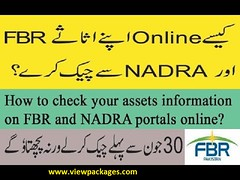 Check your Assets Information at FBR (aliharis6625) Tags: assetsinformationfbrprtalnadraportal
