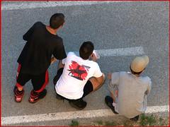 Three boys (Renato Morselli) Tags: bologna manifestazione corteo persone people gente xm24 centrosociale threeboys tre drei trois three 3 tres