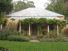 The Victorian Sandstone Cottage of St Erth; the Garden of St Erth - Simmonds Reef Road, Blackwood (raaen99) Tags: 1860s 1866 1867 sterth gardenofsterth victoriangeorgianarchitecture victoriangeorgianbuilding victoriangeorgianhouse sterthgardens sterthhouseandgardens victoriangeorgiancottage door roof house building home window stone architecture sandstone iron 19thcentury cottage victoriana walls verandah goldrush corrugatediron nineteenthcentury domesticarchitecture corrugatedironroof hippedroof goldrushera matthewrogers maryannerogers victoriangoldrush victoriangeorgianstyle simmondsreef autumn trees tree fall grass leaves garden leaf australia victoria greenery diggers bushes shrubs grounds autumnal shrubbery gardenclub blackwood gardeningclub autumnalcolours houseandgardens diggersclub diggersgardenclub diggersgardeningclub