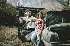 Angélique.C et moi meme By Corsu. (By Corsu) Tags: canoneos6d fille femme ado homme garçon duo portrait shooting girl women car voiture épave preset lightroom street sauvage film movie corte corse bycorsu corsica flickr amateur bonnieandclyde