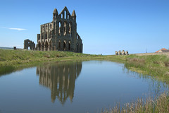 Whitby Abbey reflections (Tony Worrall) Tags: reflections wetreflection pool lakes beauty calm photographsofwhitby whitby whitbyabbey church ruins historic olden past stone iconic yorkshire yorks scene scenery northyorkshire resort yorkshirephotos east eastern seasidetown holidays tourists coast whitbyphotos north update place location uk england visit area attraction open stream tour country item greatbritain britain english british gb capture buy stock sell sale outside outdoors caught photo shoot shot picture captured ilobsterit instragram scenic