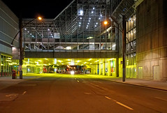 DSC00505 - Mello Yellow... (archer10 (Dennis)) Tags: montreal night sony a6300 ilce6300 18200mm 1650mm mirrorless free freepicture archer10 dennis jarvis dennisgjarvis dennisjarvis iamcanadian canada oldmontreal quebec lights overpass colour yellow building