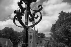 LampPost (Tony Tooth) Tags: nikon d600 nikkor 40mm dxonfx lamppost wroughtiron church bw blackandwhite monochrome norbury derbyshire