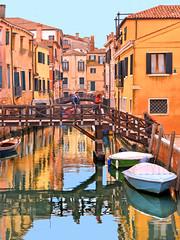 venice reflections (poludziber1) Tags: venice venezia italy canal bridge architecture water