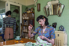 ROSIE 2 (Nigel Bewley) Tags: rosiegleave seamstress tailor 1940s 1930s fashion vintage retro reproduction clothes kingsbury london england uk profoto unlimitedphotos nigelbewley photologo amateurphotographer appicoftheweek june june2019 smalltrades artistsandartisans artist artisan maker creator