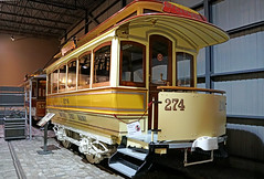 DSC00525 - Streetcar MSR 274 (archer10 (Dennis)) Tags: montreal trains museum quebec night sony a6300 ilce6300 18200mm 1650mm mirrorless free freepicture archer10 dennis jarvis dennisgjarvis dennisjarvis iamcanadian canada saintconstant canadianrailwaymuseum streetcarmsr274