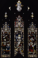 Meonstoke, Hampshire, St. Andrew's church, chancel, east window (groenling) Tags: meonstoke hampshire hants england britain greatbritain gb uk standrewschurch chancel window glass stainedglass ship boat saint peter claytonbell jesus