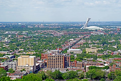 DSC00624 - View of Olympic Park (archer10 (Dennis)) Tags: montreal quebec night sony a6300 ilce6300 18200mm 1650mm mirrorless free freepicture archer10 dennis jarvis dennisgjarvis dennisjarvis iamcanadian canada mountroyalpark olympicpark stadium montrealtower