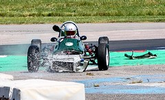 Whoops ! , lost his front wing ..