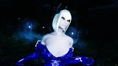 Edina Ferwind (XMymy007X) Tags: skyrim enb tesv lady sexy latex blue