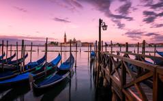 Gondolas | Venice, Italy (NicoTrinkhaus) Tags: italy venice europe gondolas boats famous transport travel canal water