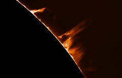 NW Prominence (plndrw) Tags: prominence sun solar televue televue25xbarlow zwo ha hydrogenalpha hydrogen