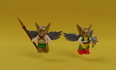 The Hawks (KoyoteKB) Tags: hawkman hawkwoman justiceleague thanagar wings nthmetal lego dccomics