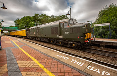 Colas Railfreight Class 37 no 37057 at Sutton Parkway on 01-07-2019 with the RTC to Neville Hill Test Train (kevaruka) Tags: 37057 37610 class37 suttoninashfield nottinghamshire britishrail networkrail testtrain robinhood robinhoodline colas colasrailfreight england englishelectric colour colours color colors green blue yellow clouds cloudy cloud cloudyday july 2019 summer 01072019 railway trains train canon canoneos5dmk3 canon5dmk3 canonef1635f28mk2 5d3 5diii 5d 5dmk3 flickr frontpage telephoto telephototrains wideangle uwa ultrawideangle boobs milf sexy wife