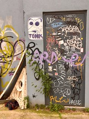 Daily Reading Material (Wires In The Walls) Tags: door bombed graffiti tagged tonk wheatpaste brooklyn williamsburg 2019 nyc kas2 velo cash4 riley lance ese deuce payme kama