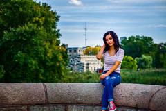 Rose-75 (TheseusPhoto) Tags: girl female woman sexy beautiful seduce sensual pretty beautifulcapture glamour fashion face eyes latina puertorican portrait portraiture artportrait fineartportrait model modeling pose outdoors colors colorsoftheworld rippedjeans ripped jeans denim fence concrete urbandecay