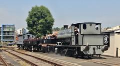 Preserved Avonside 0-6-0ST No. 34, Bristol Harbour Railway, 29th. June 2019. (Crewcastrian) Tags: bristol transport railways trains bristolharbourrailway preservation avonside locomotive 060st 34