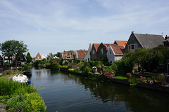 River and Houses (Ozrkca) Tags: landscape view sonyalphadslr 1650mm sony tree canal tower village ranch farm reflection netherlands river lake edam marken amsterdam a6000