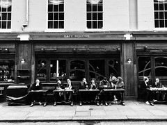 Coffee Shop (DaDa 1127) Tags: coffee store black blackandwhite monochrome portrait people snap alley street contrast light lifestyle life lifestyles shadow shadows architecture architectural building woman man travel landmark london uk amazing beautiful city cityscape