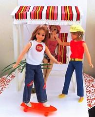 THE LITTLE RASCALS! (ModBarbieLover) Tags: tiff miss barbie doll vintage mod skipper mattel fashion skateboard lawnswing toy 1964 1972