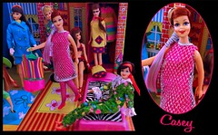 Here's CASEY!! (ModBarbieLover) Tags: casey francie doll mod 1967 1968 sears mattel fashion barbie house case tnt japanese exclusive pink silver fall switch