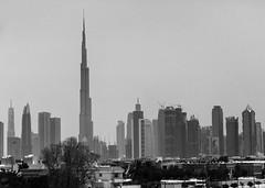 Dubai Skyline - BW B25A8074 (raddox) Tags: dubai uae city cityscape blackandwhite burjkhalifa