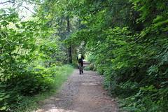 Mountain bikers passed me by (rozoneill) Tags: bridge oregon forest river scott boulder deer trail national springs recreation mckenzie willamette belknap creek hiking