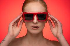 Beth (englishgolfer) Tags: portrait studio woman nikon d7500 tamron red