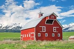 Enterprise Oregon (Gary Grossman) Tags: joseph enterprise wallows mountains red barn landscape oregon northwest spring may garygrossman garygrossmanphotography pacificnorthwest wallowamountains redbarn iconic