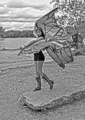 Gloria (tacosnachosburritos) Tags: hippy chick rainbow flag pride gladiatorshoes gladiatorsandals hot shortshorts kite shabbychic girl woman lady model lovely sexy beautiful gorgeous milf oswego illinois foxriver trees poser sky babe sublime