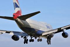 'BA66V' (BA0066) PHL-LHR (A380spotter) Tags: approach arrival landing finals shortfinals threshold boeing 747 400 gcivi oneworld oneworldalliance memberofoneworld logojet livery scheme colours internationalconsolidatedairlinesgroupsa iag britishairways baw ba ba66v ba0066 phllhr runway27r 27r london heathrow egll lhr