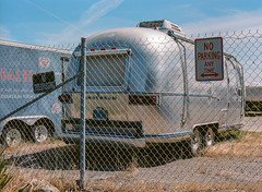 Alviso, California (bior) Tags: alviso sanjose california airstream trailer rv recreationalvehicle camper chainlinkfence pentax645nii pentax645 6x45cm portra160vc portra kodakportra mediumformat 120